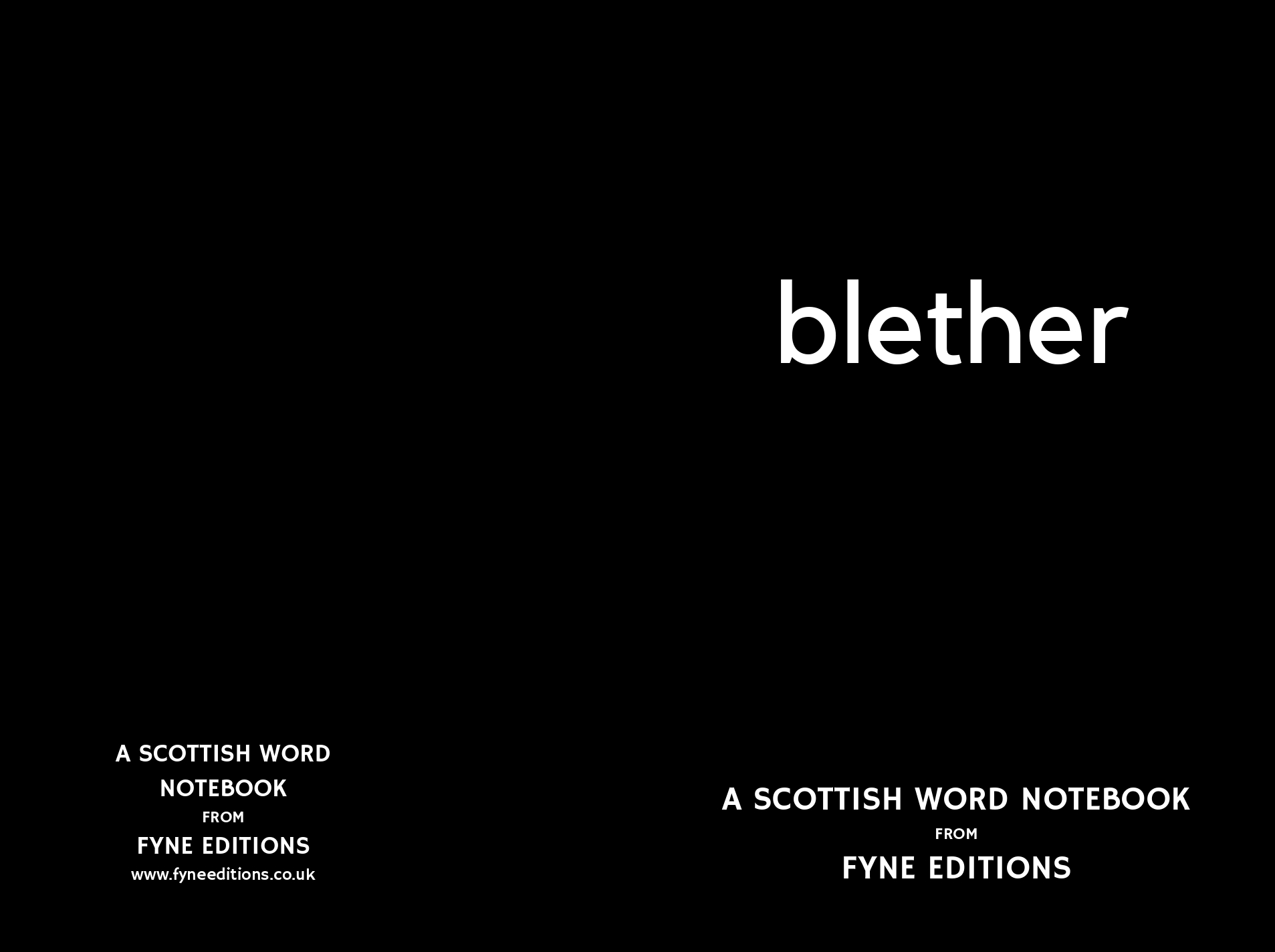Blether - Scottish Words Notebook