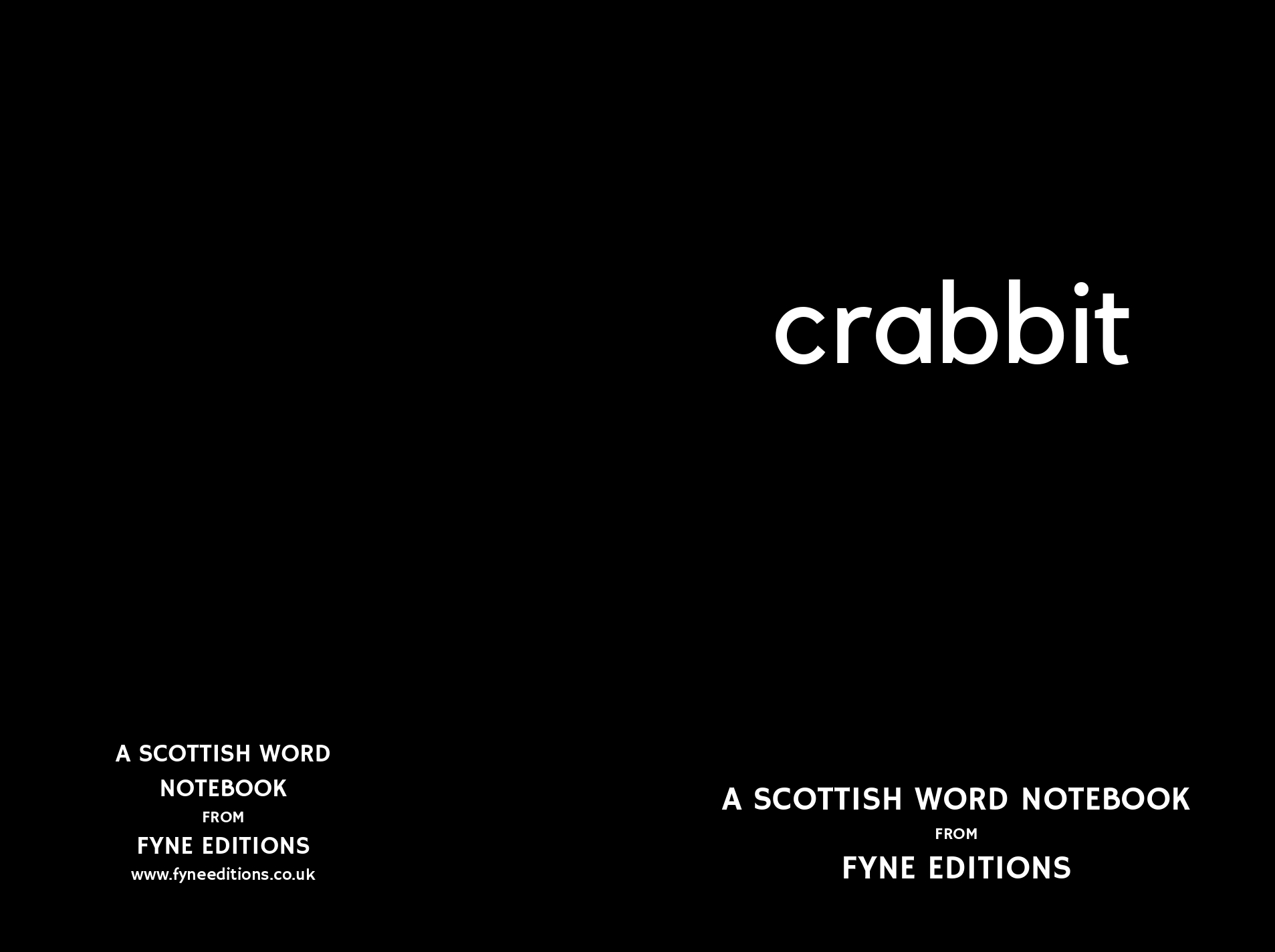 Crabbit - A Scottish Words Notebook