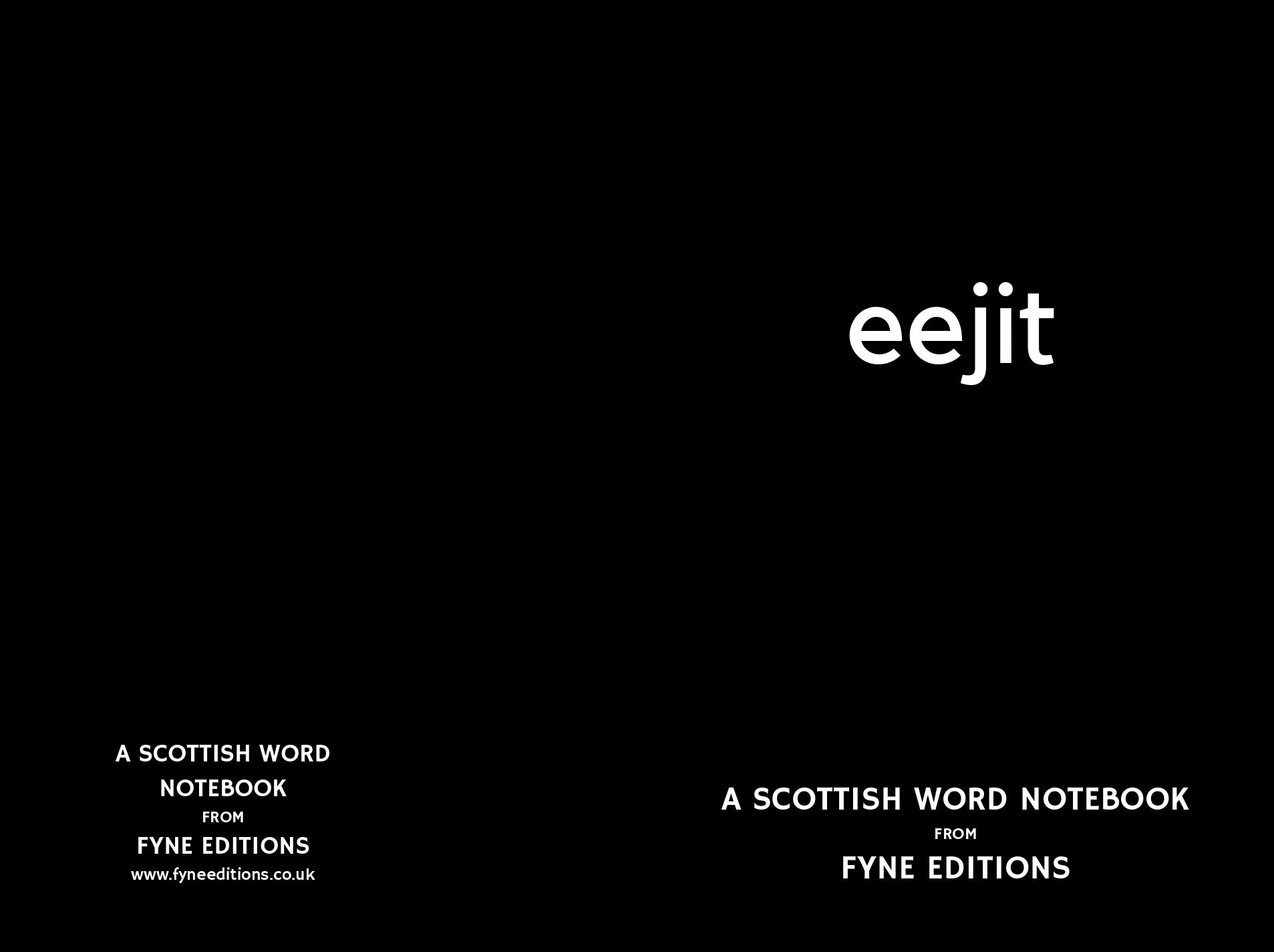 Eejit - Scottish Words Notebook