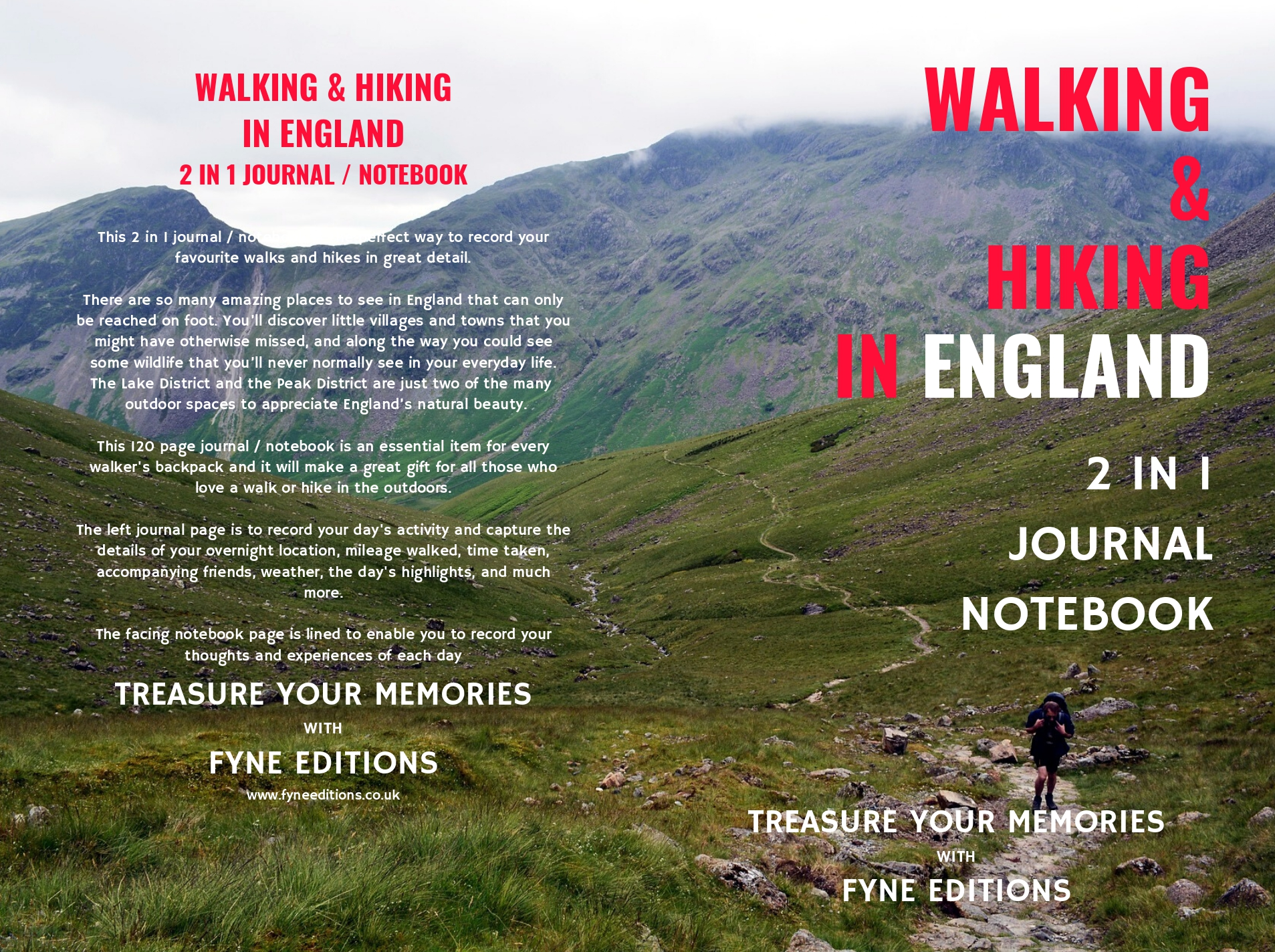 Walking & Hiking in England Walking & Journal Cover