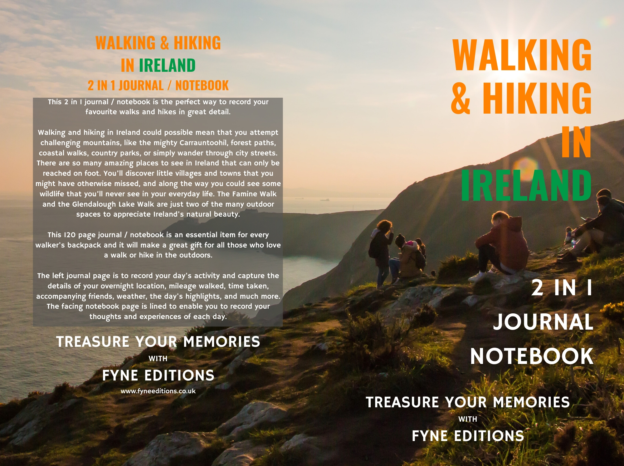 Walking & Hiking in Ireland Journal & Notebook