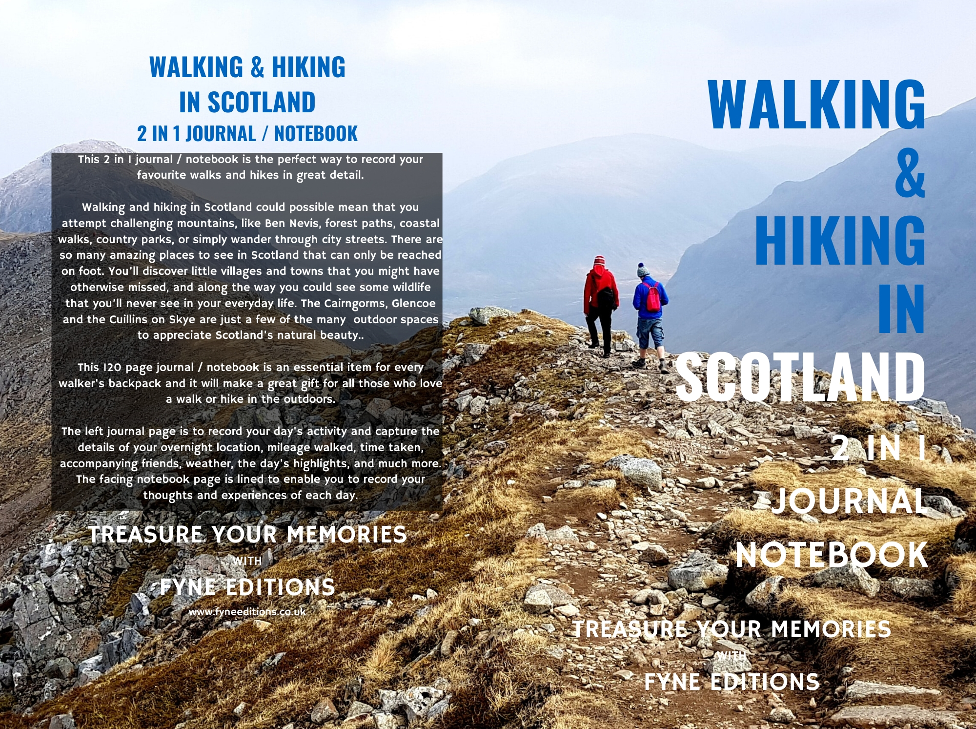 Walking & Hiking in Scotland 2 in 1 Journal & Notebookal Cover