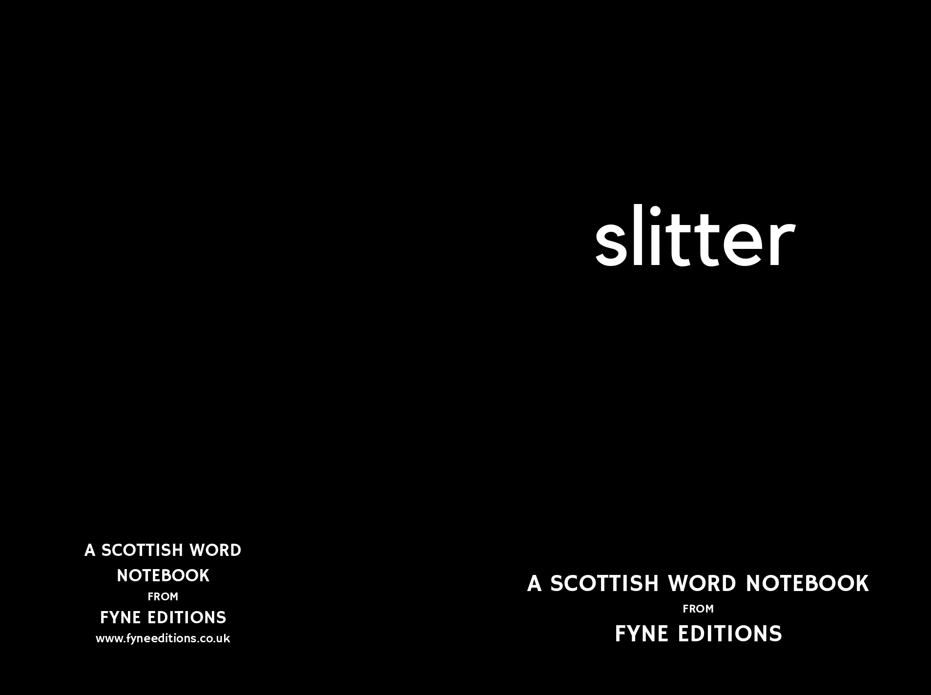 Slitter - Scottish Word Notebook