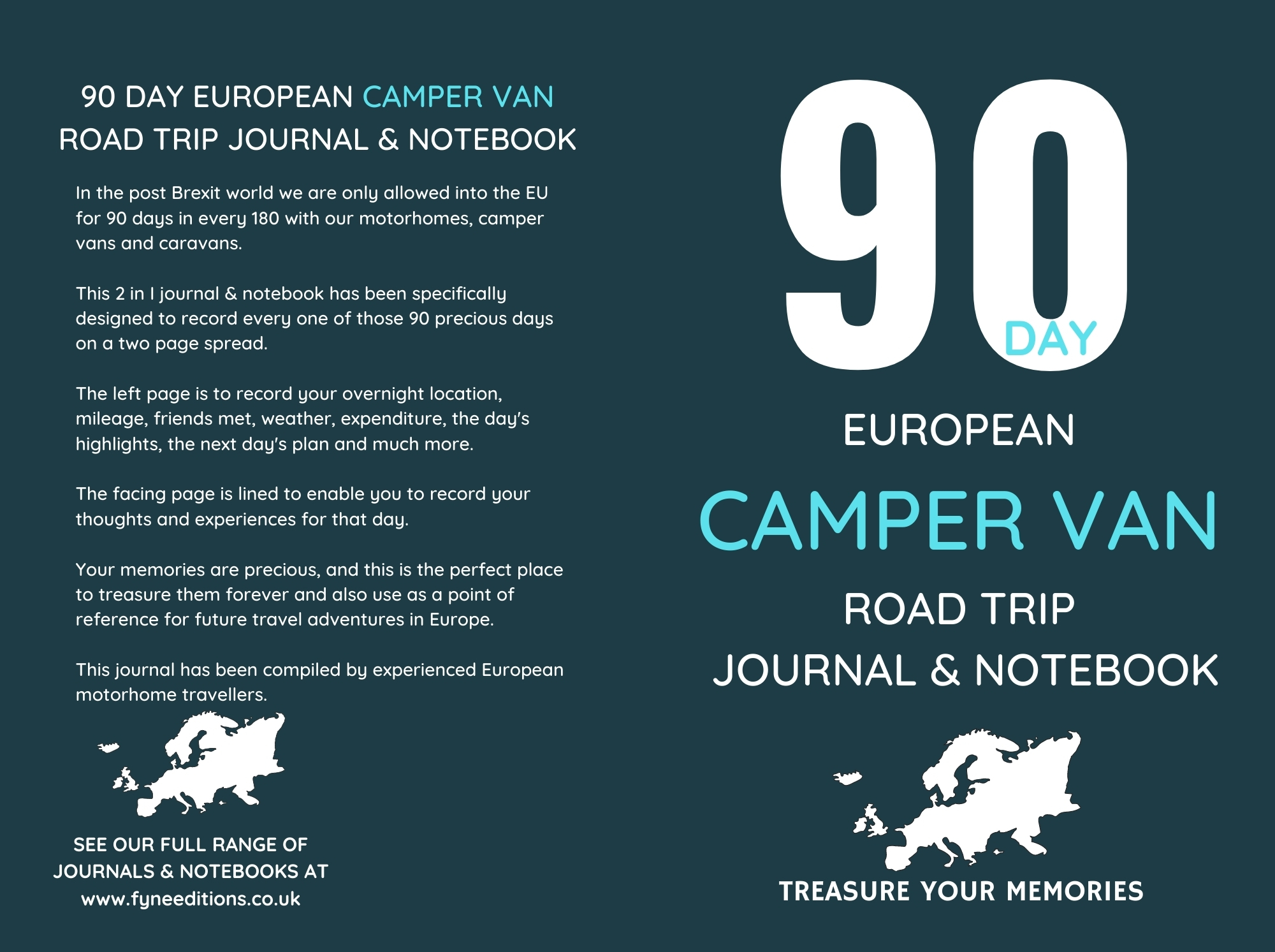 (Updated) 90 Day European Camper Van Road Trip - Journal Cover
