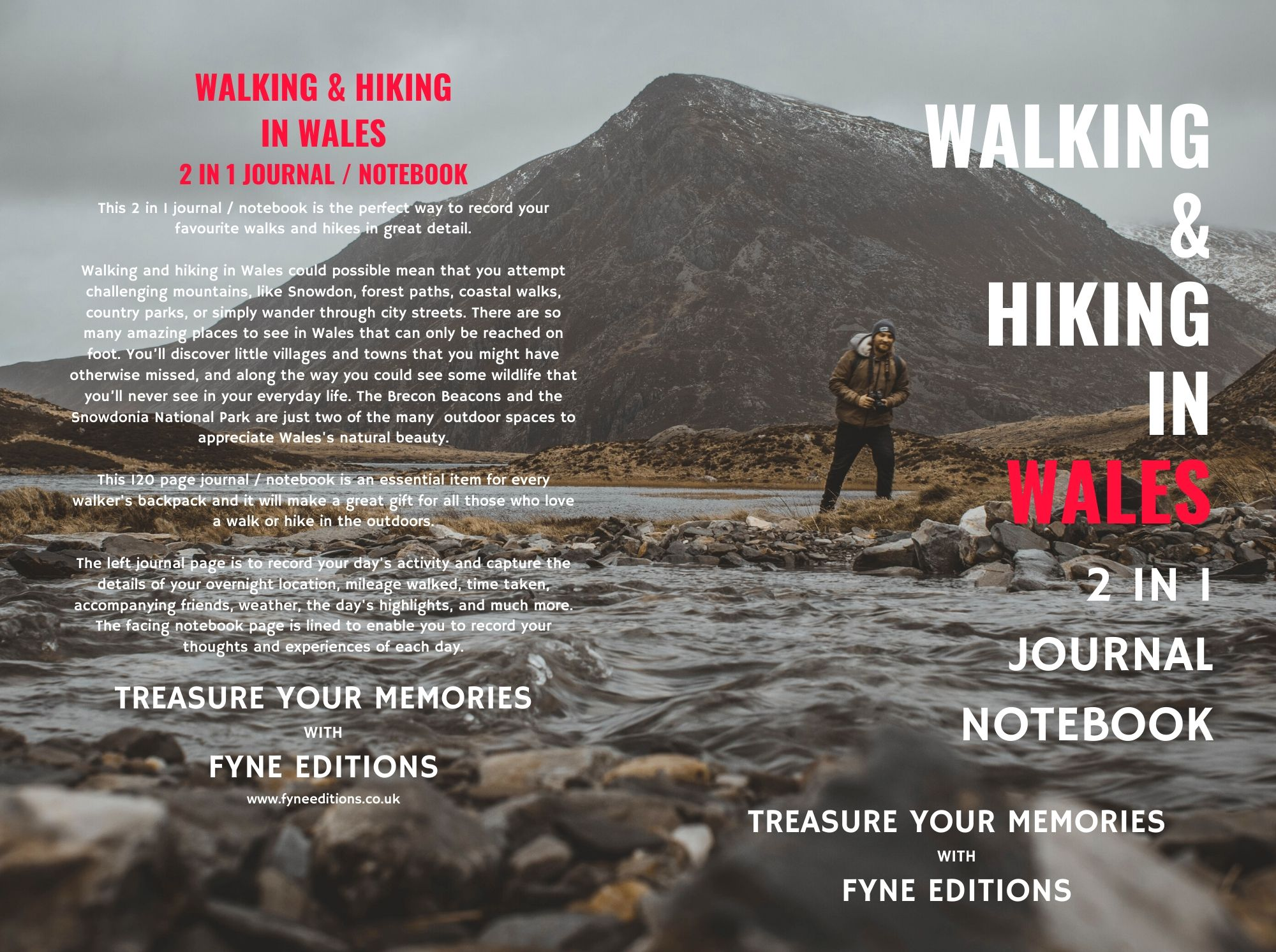 Walking & Hiking in Wales Journal & Notebook