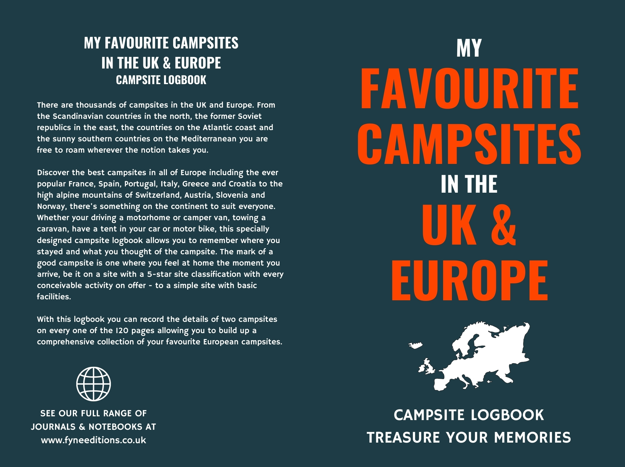 My Favourite Campsites in the UK & Europe - Logbook