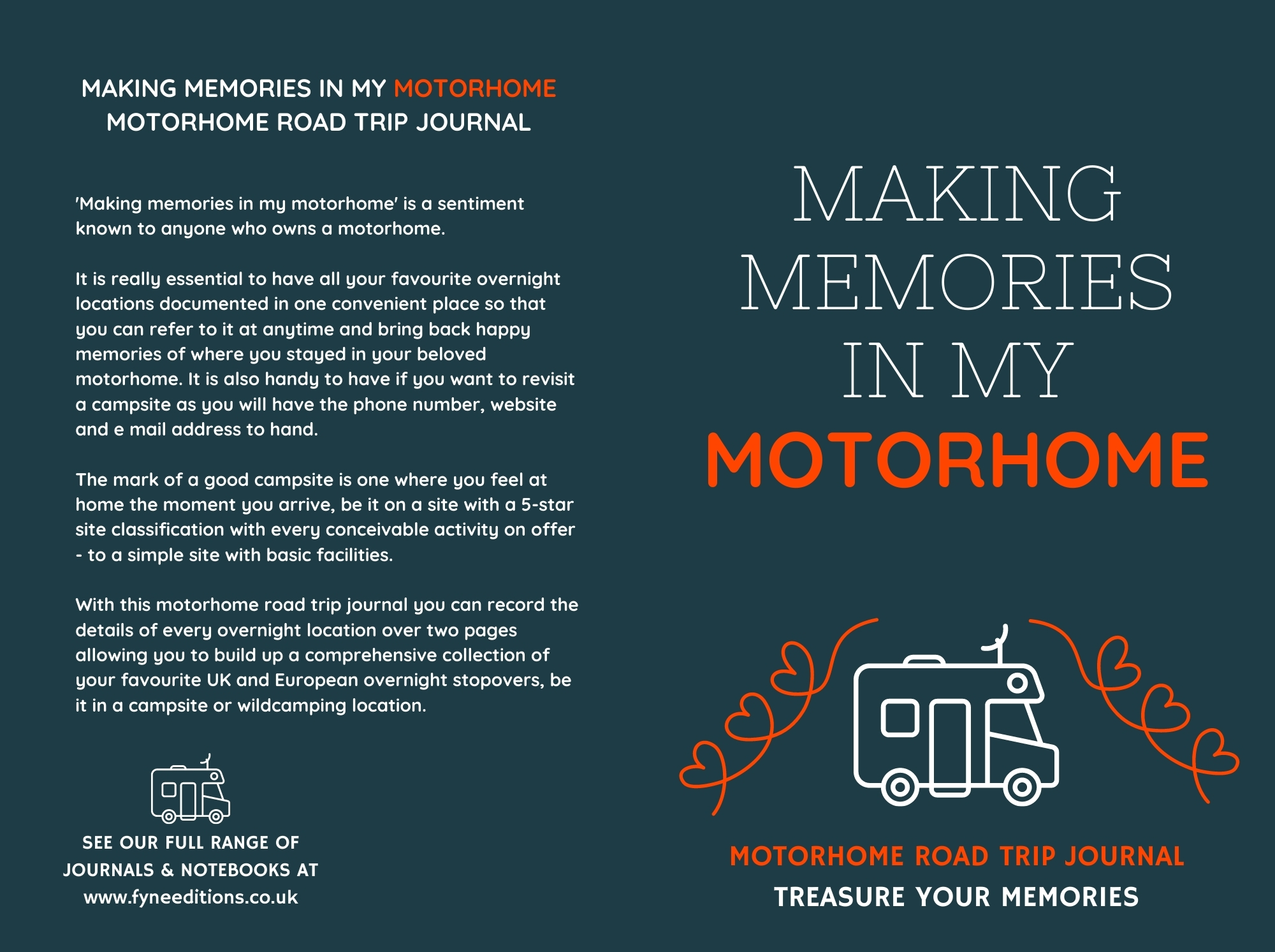 Making Memories In My Motorhome - Journal Cover