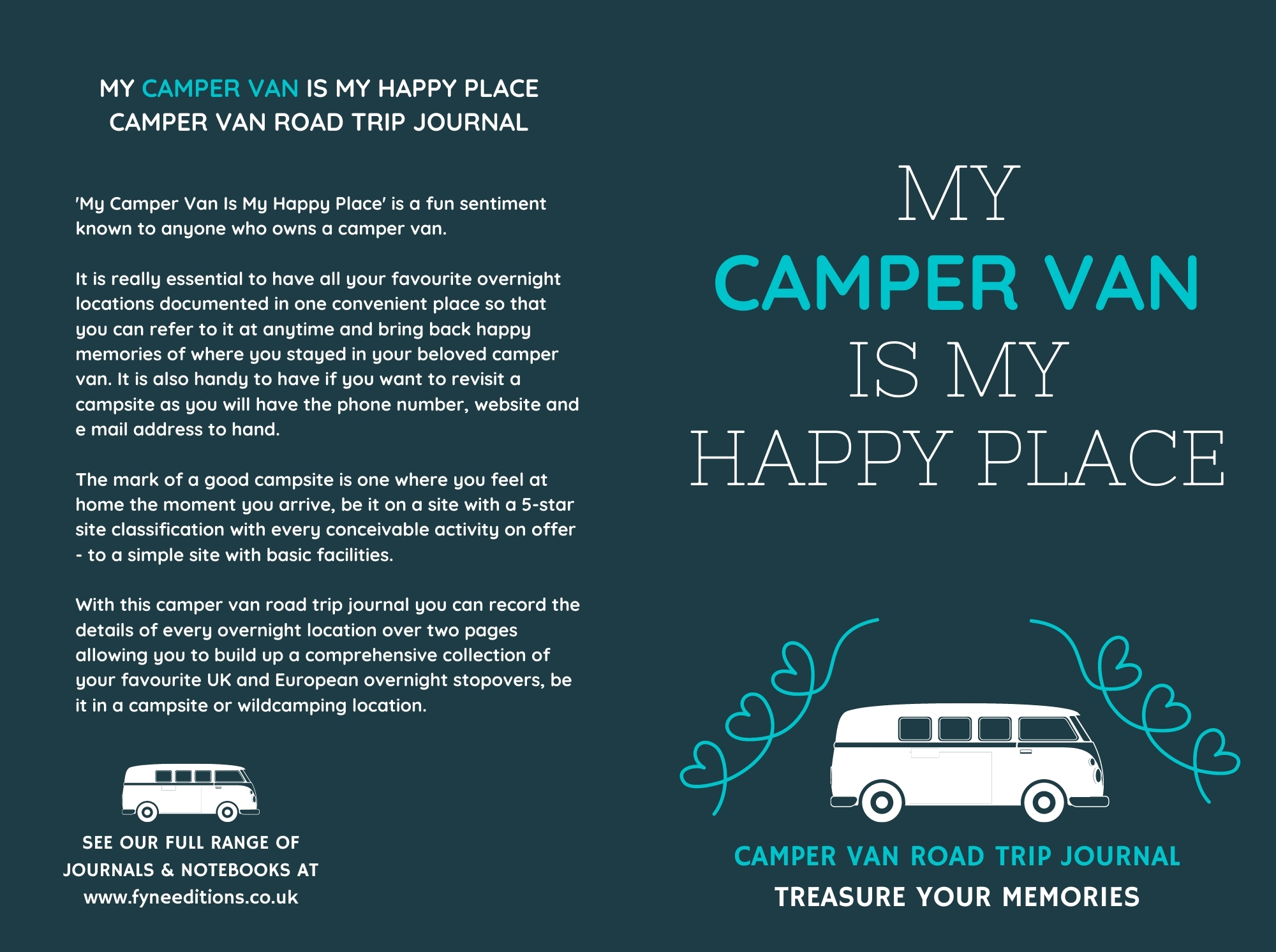My Camper Van Is My Happy Place - Journal Cover