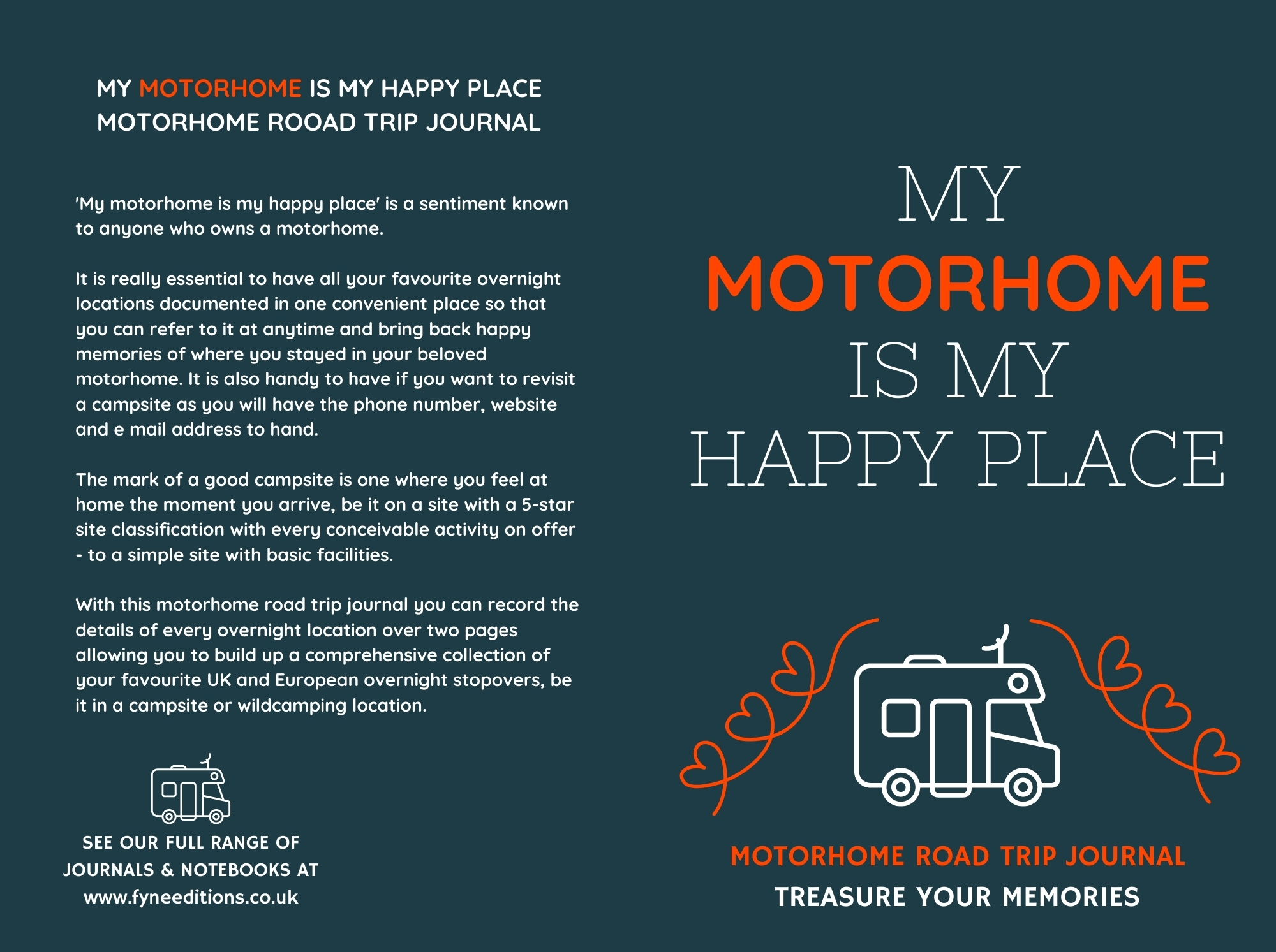 My Motorhome Is My Happy Place - Journal Cover