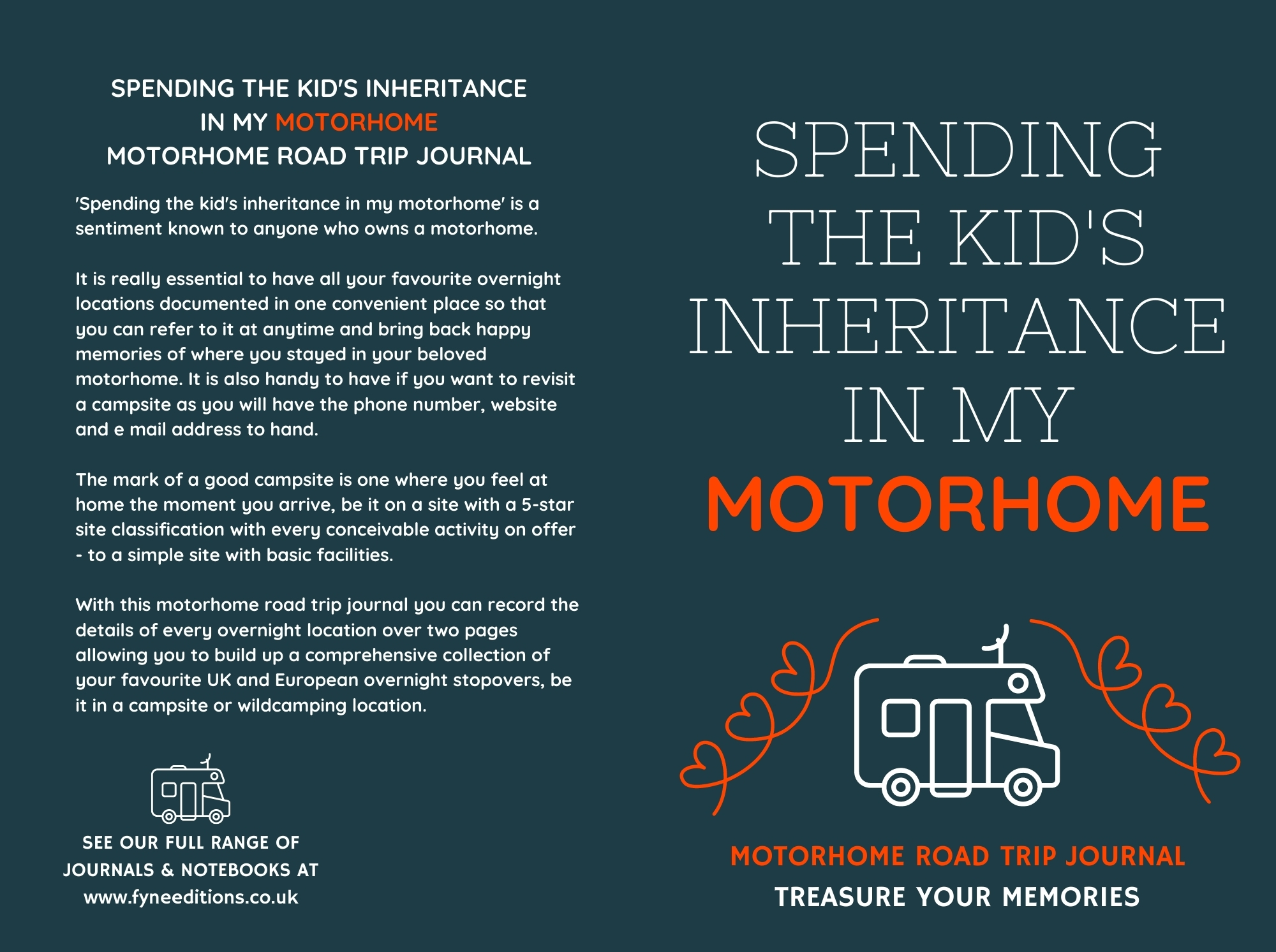 Spending The Kid's Inheritance In My Motorhome - Journal Cover