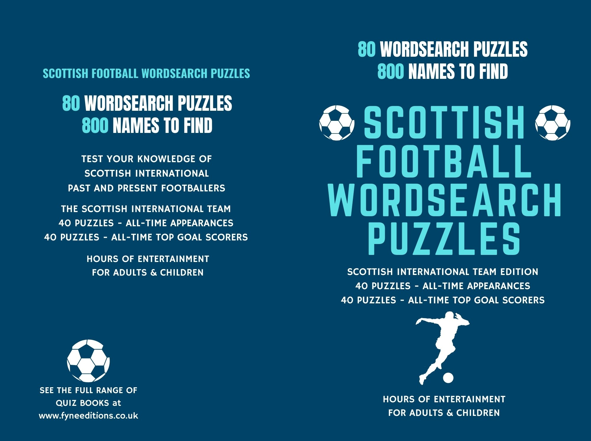 Scottish Football Word Search Puzzle Book Cover