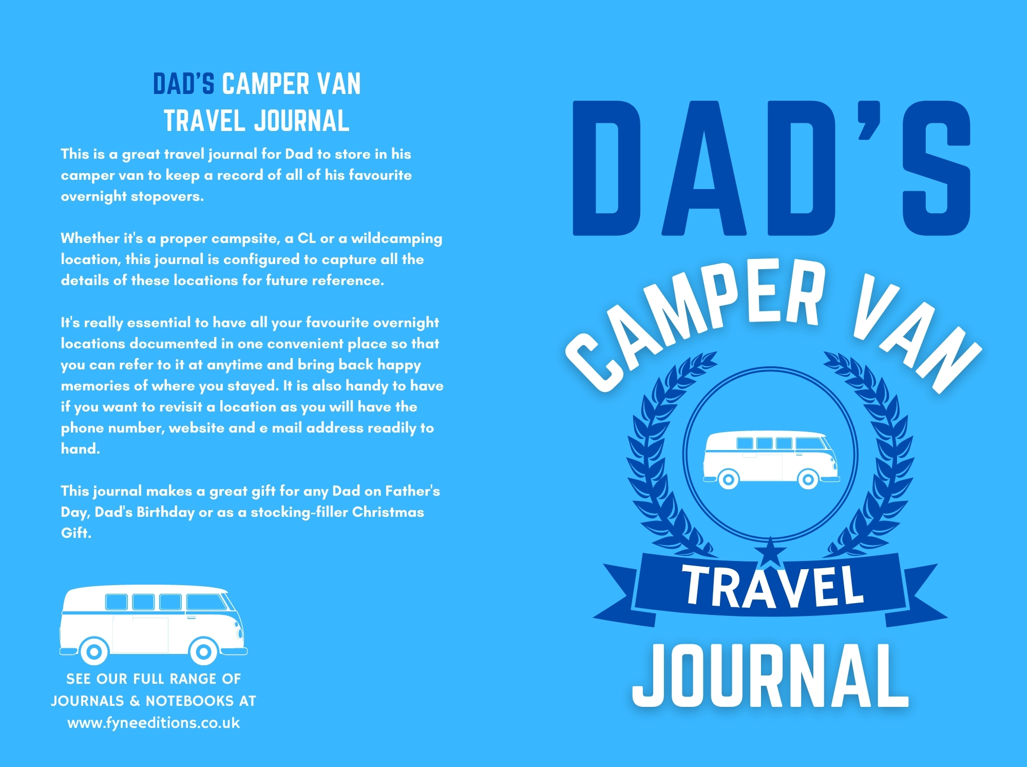 Dad's Camper Van Travel Journal - Cover