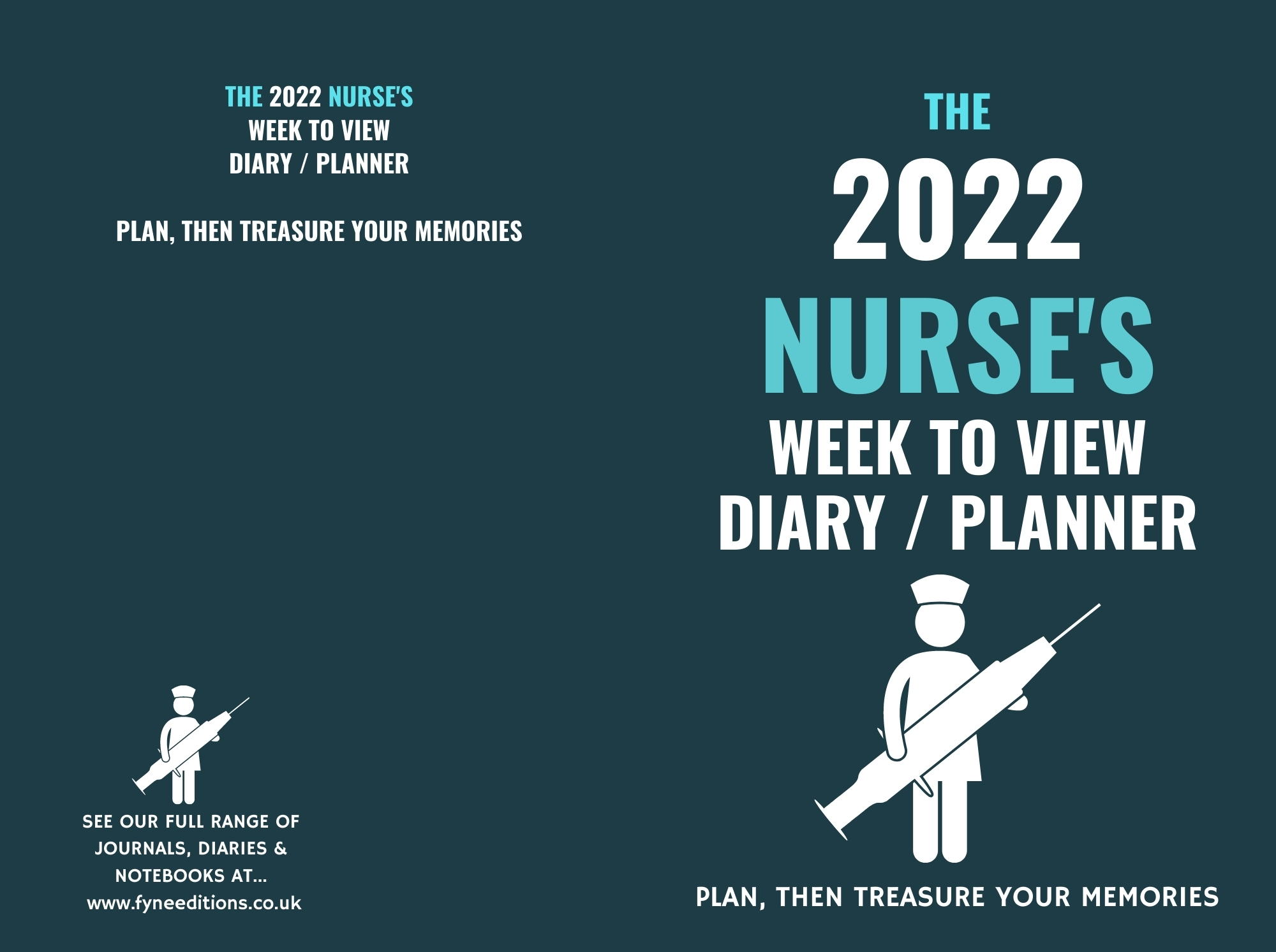 Cover - The 2022 Nurse's Week to View Diary Planner
